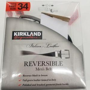 Men's Kirkland Signature Reversible Belt NWT